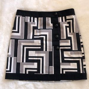 Ann Taylor Geometric Print Wrap Skirt